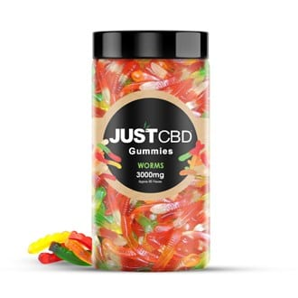 The Green Dragon CBD offers JustCBD Gummy Worms 3000mg. Each gummy has 99.99% CBD hemp isolate which is grown and manufactured in the USA. These delicious gummies come in a clear jar with a wide-mouthed opening and a screw-on lid for freshness.