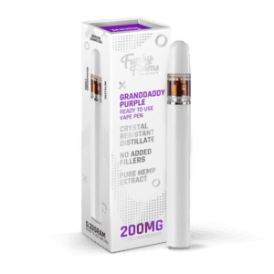 The Green Dragon CBD Offers Funky Farms Granddaddy Purple Vape Pen 200mg. Made with 200mg Broad Spectrum Crystal Resistant Distillate and delicious, natural flavors. This 1/3 milliliter vape pen is disposable and ready for use!