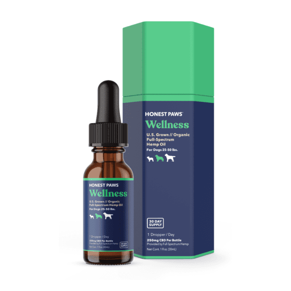 The Green Dragon CBD offers Honest Paws Wellness CBD Oil. 250mg of Organic Full Spectrum CBD and MCT Oil pair to give your pet a top-grade CBD dog tincture. It comes in a 30ml bottle with a 1ml dropper for easy dose tracking.